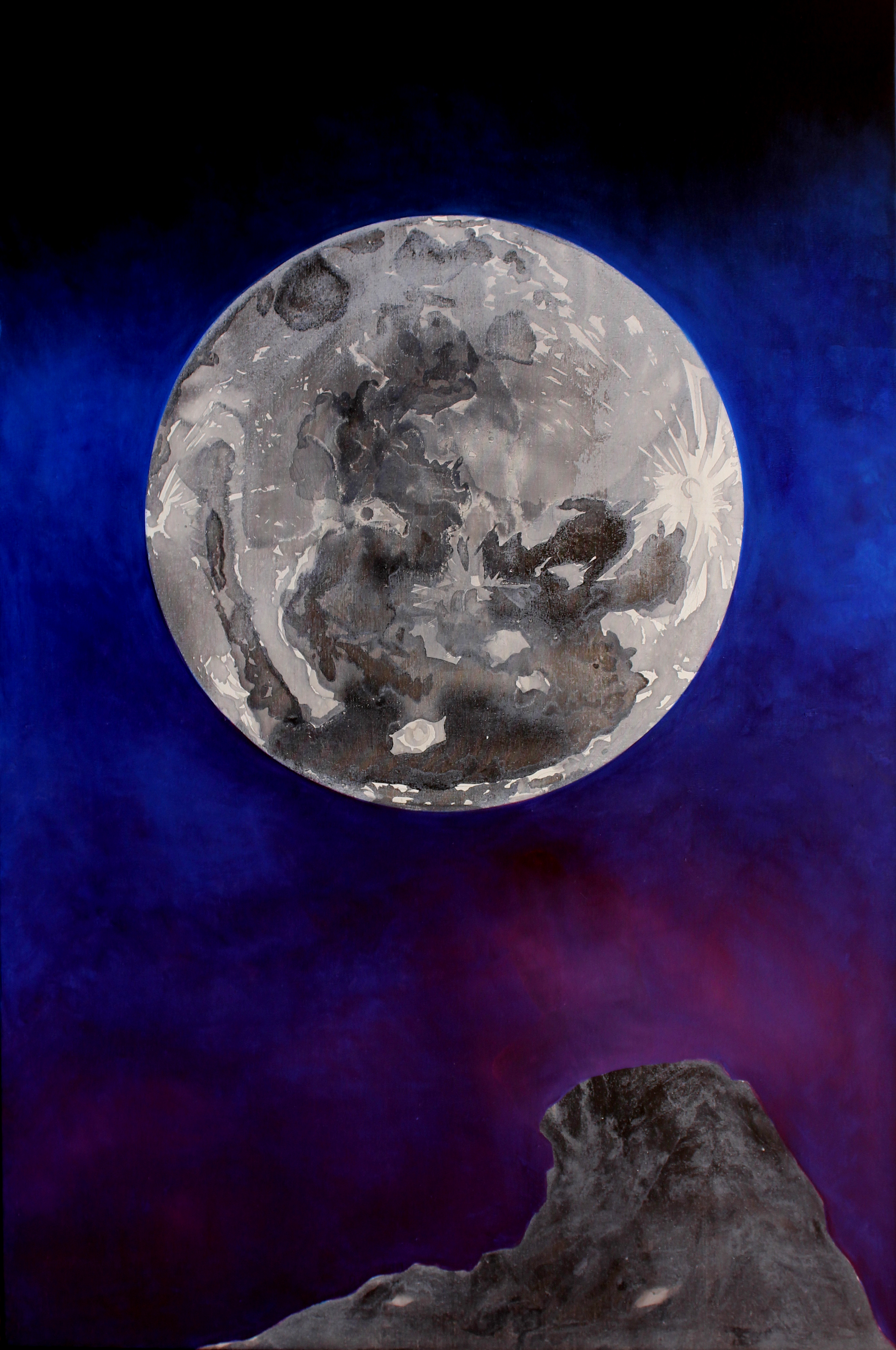 The moon, incre + oil in canvas 1,50mX1,00m.JPG