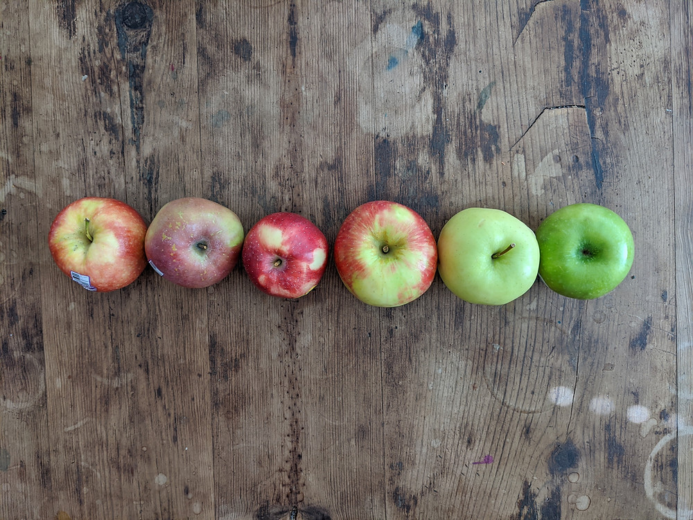 Apple taste test: Gala, Fuji, Sweet Tango, Honeycrisp, Golden Delicious, and Granny Smith