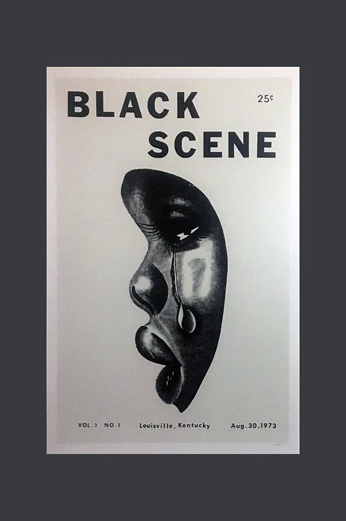 Black Scene Poster by Thomas Aires Scott