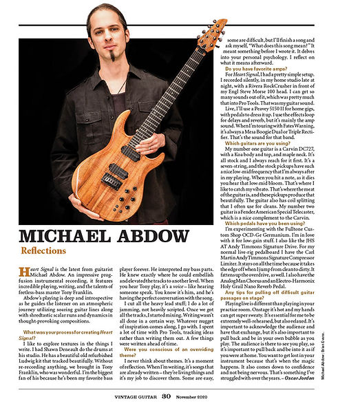 Vintage Guitar mag Michael Abdow 1120102