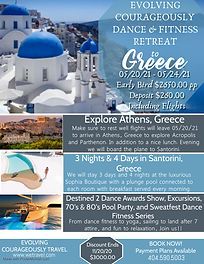 Santorini Greece Travel Poster - Made wi