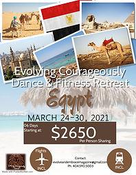 ECDF Retreat Egypt Tour Travel Flyer