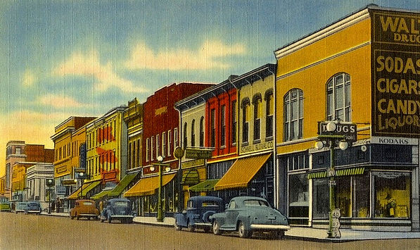 1941 p. card B'ville south from Morgan.j