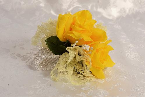 BRIDESMAID WRIST CORSAGE - SUNLIGHT GLORY