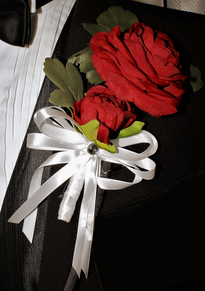 Red Boutonniere #0001
