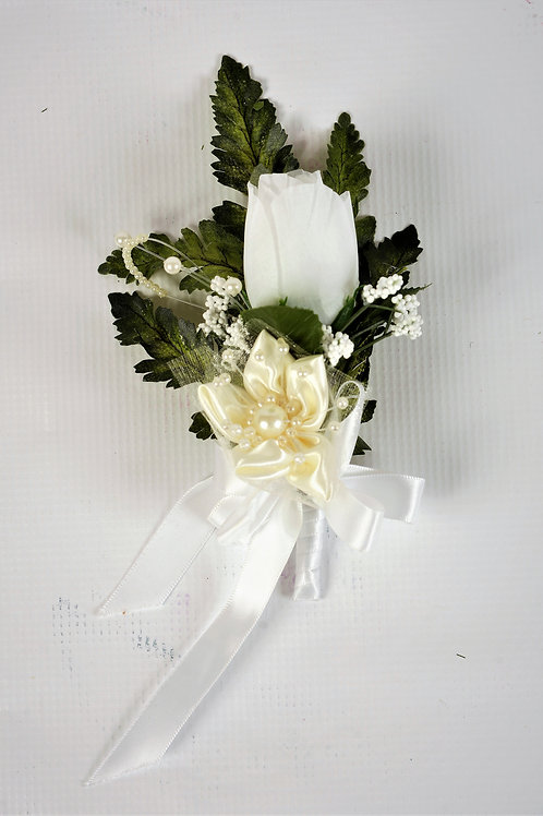 RING BEARER'S BOUTONNIERE - IVORY REGAL