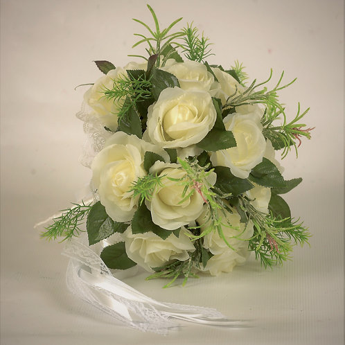 BRIDE'S BOUQUET - WHITE ROSE II