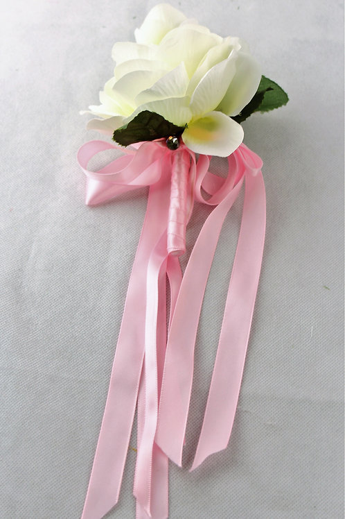 GRADUATE CORSAGE - GENERAL THEME - WHITE & PINK