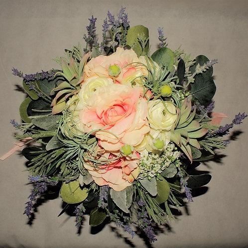 BRIDE'S BOUQUET - RUSTIC COUNTRY BLUSH
