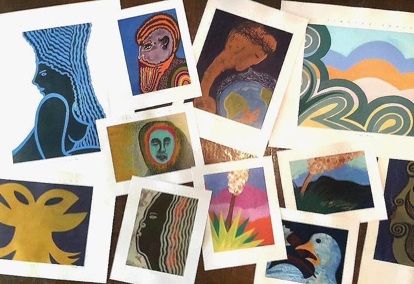 Collage of Timothy Hanlon Prints