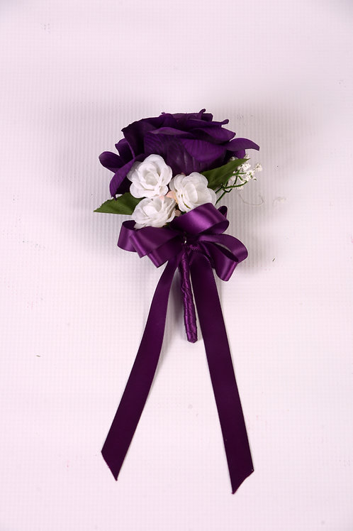 GROOMSMAN'S BOUTONNIERE - PURPLE MAJESTY