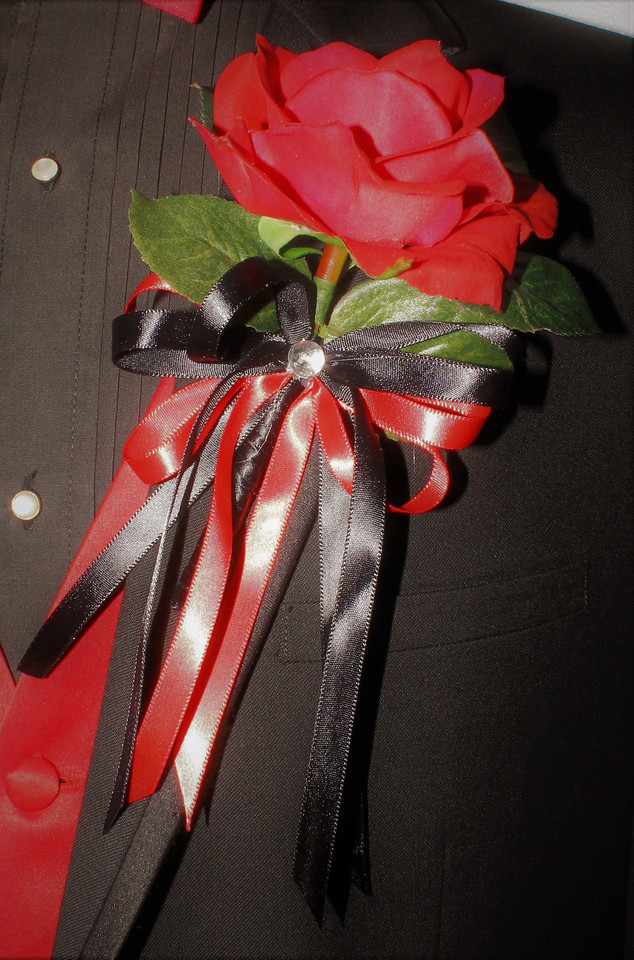 Red Boutonniere #0005