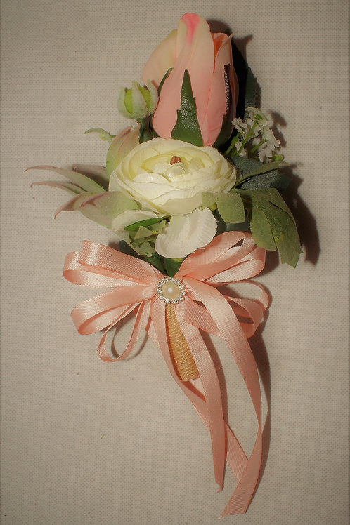 GROOM'S BOUTONNIERE - RUSTIC COUNTRY BLUSH