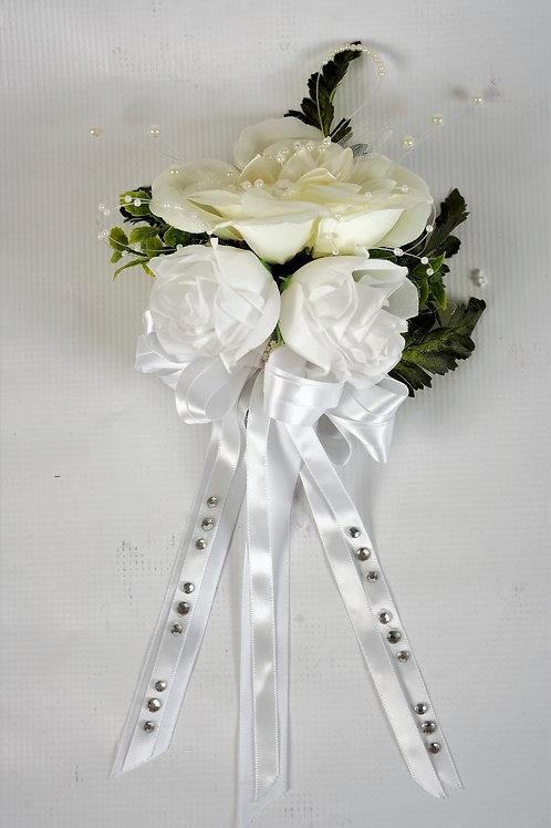 BRIDE'S WRIST CORSAGE - IVORY REGAL