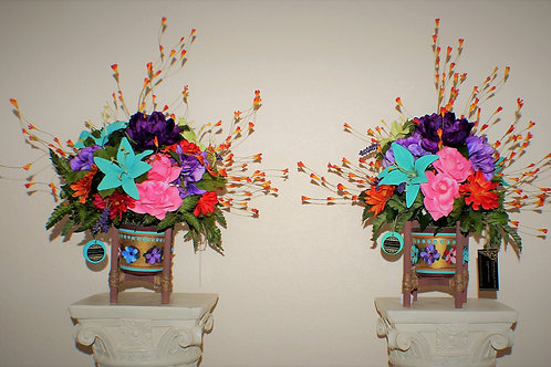 TABLE CENTER PIECE - FIESTA FALL PAIR