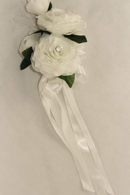 GRADUATE CORSAGE - GENERAL THEME - WHITE