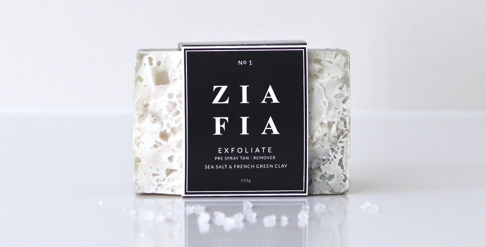 No 1 E X F O L I A T E | SEA SALT & FRENCH GREEN CLAY EXFOLIATING BODY BAR