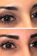 Permanent eyebrows with shading