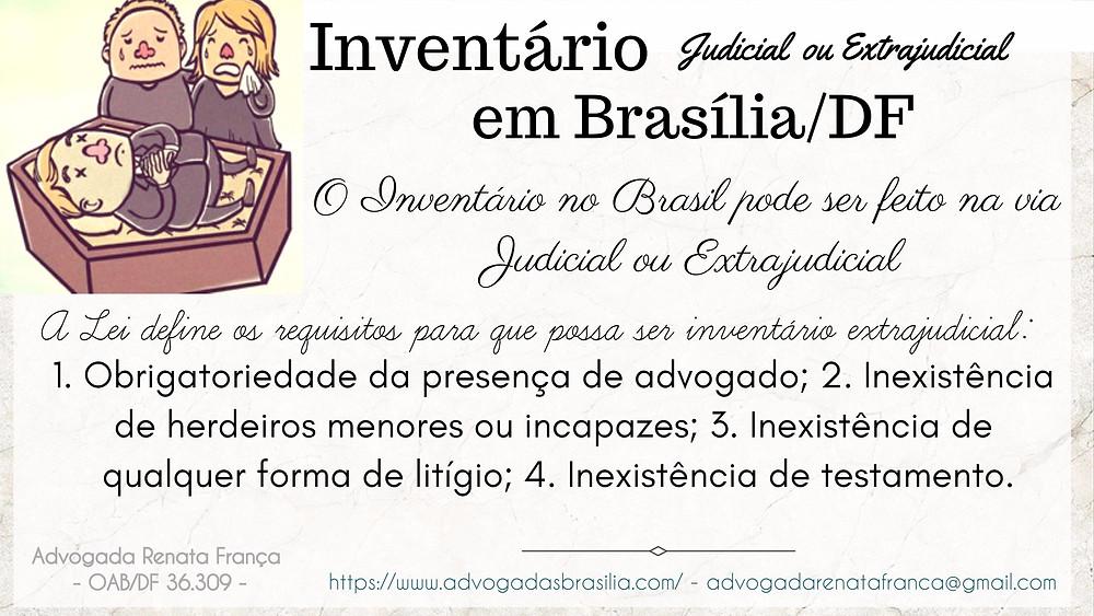 Inventario Judicial ou Cartrio advogado Brasilia