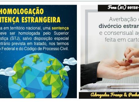 Divórcio - Homologação de Sentença Estrangeira