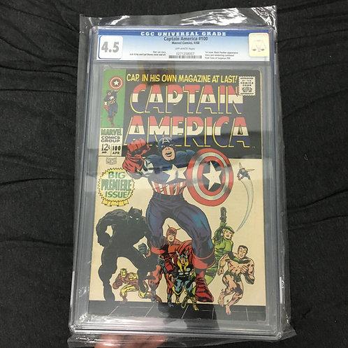 Captain America #100 CGC 4.5
