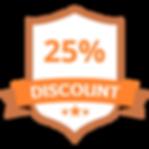 25% Discount Orange