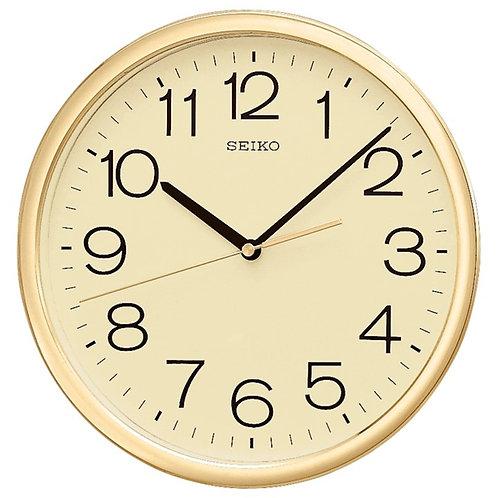 Seiko Wall Clock QXA014A Gold Plate