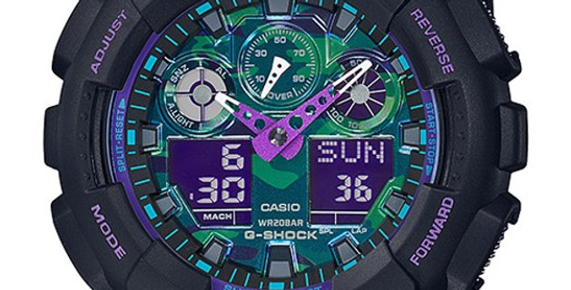 G-Shock GA-100BL Joker