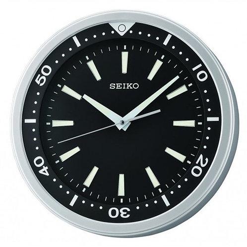 Seiko Wall Clock QXA723A Ebony Divers' Style