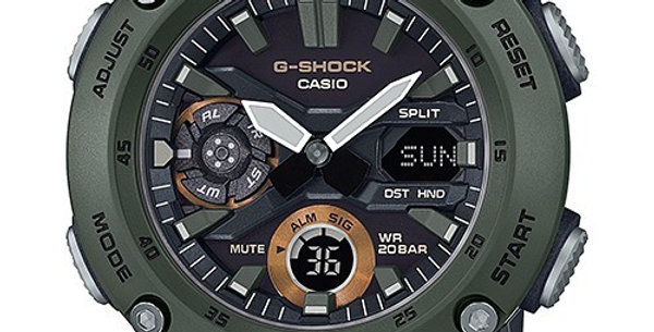 Casio G-Shock GA-2000-3A Carbon Core Guard