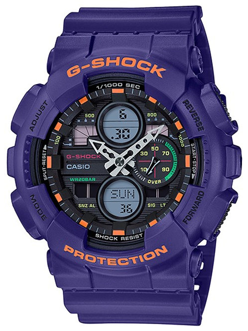 G-Shock GA-140-6A Purple Motif