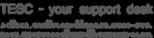 TESC - your support desk