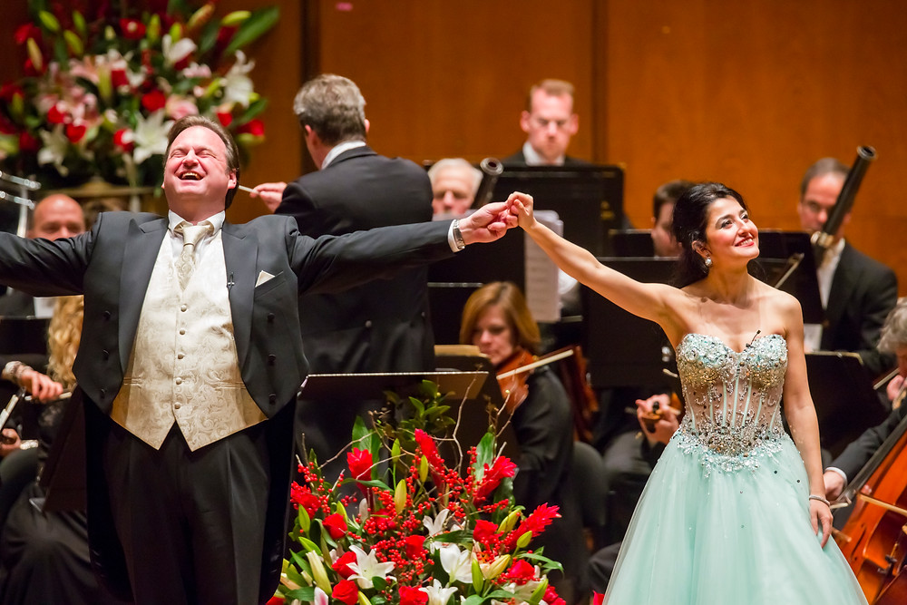 With soprano Sera Gösch in New York at Salute to Vienna
