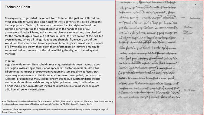 Tacitus on Christ