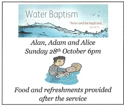 Baptisms in October