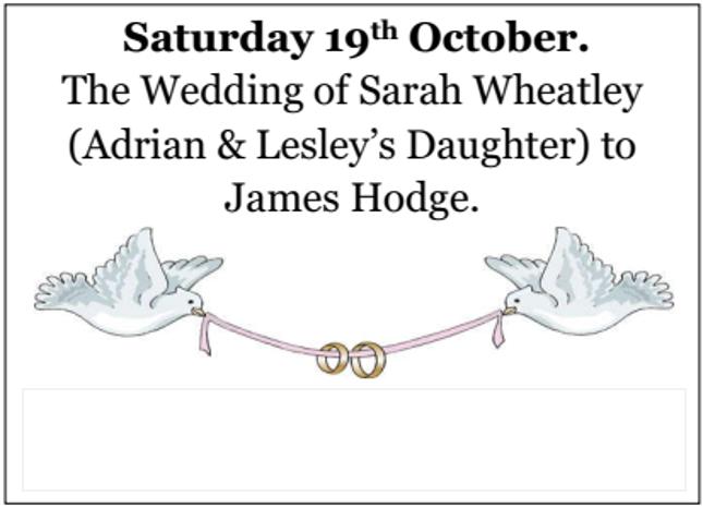 Wedding of Sarah and James