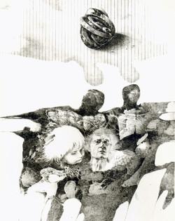 NEZÁJEM litografie 40x50cm 1982