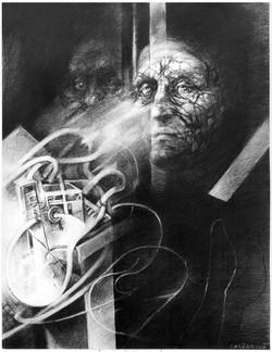 ROZHOVORY VII kresba uhlem 60x80