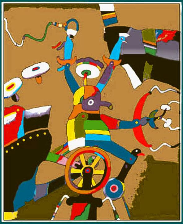 Z cyklu HRY V závěsný obraz