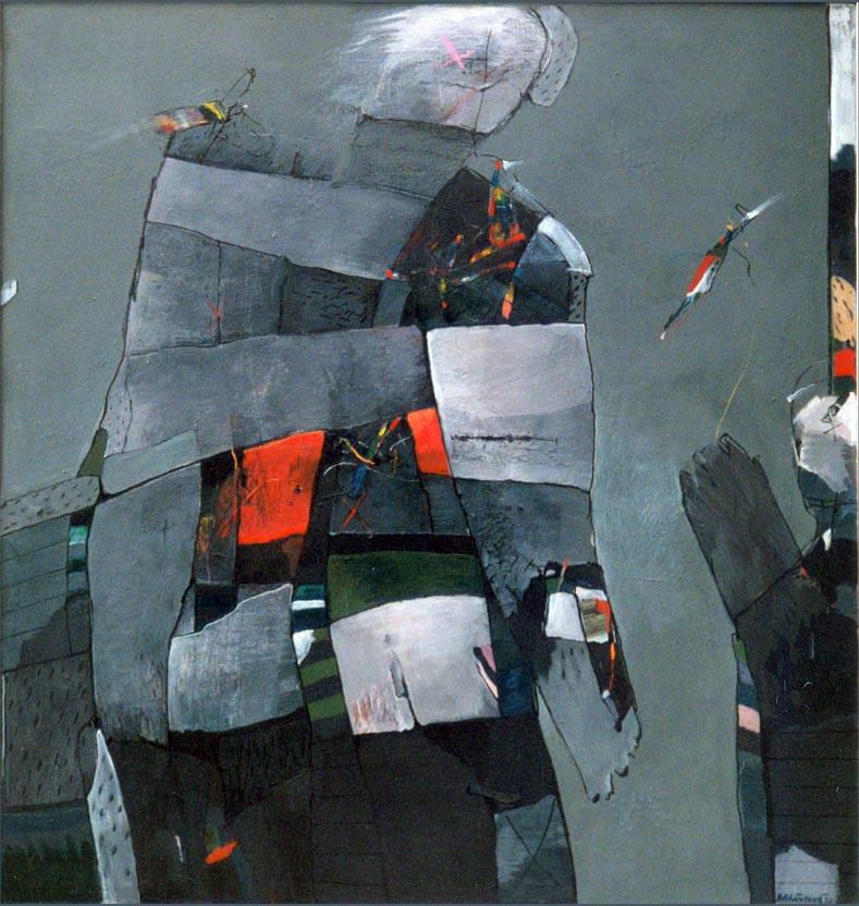 NOSITEL ŘÁDŮ akryl na plátně 115x125cm1990