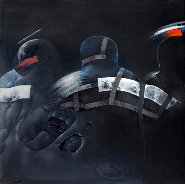 GOLÉMOVÉ I akryl 125x115 1988