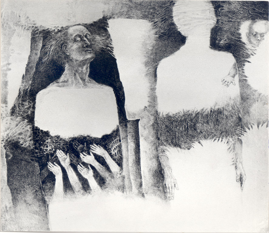 PRORŮSTÁNÍ litografie 28x18cm 1983