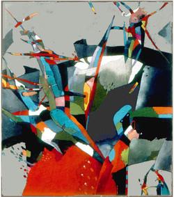 Cyklus HRY V kresba tempera na lepence1989