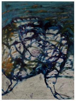 DIVOKÝ_TANEC_pastel_a_olej_na_lepence_45x57cm_1998