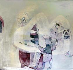 SOUKROMÍ olej na plátně 115x110 1994
