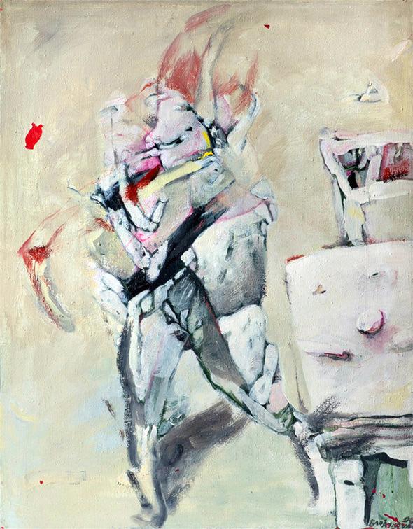 ŠÍLENSTVÍ olej na plátně 110x130cm 1994