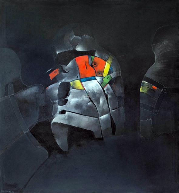 GOLÉMOVÉ IV akryl na plátně 115x120cm 1988