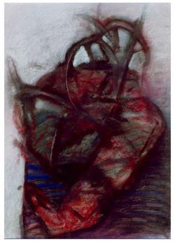 POSEDLOST kresba olej a pastel na lepence 50X70cm1998