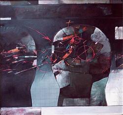 HLAVY VI olej na plátně 135x100 1990