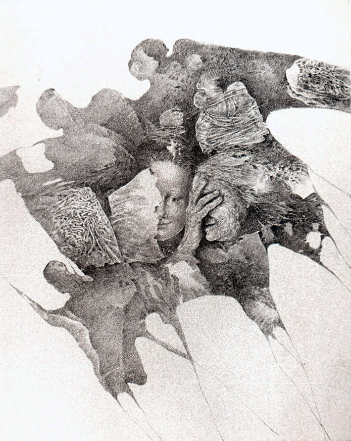 SPRAVEDLNOST litografie 40x50cm 1982